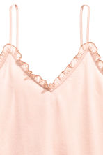 Satin strappy top - Powder pink - Ladies | H&M CN 3