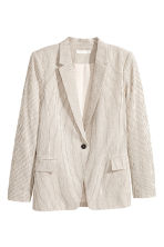 Pinstriped jacket - Natural white/Striped -  | H&M CN 2