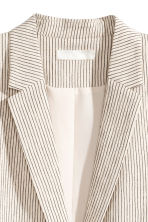 Pinstriped jacket - Natural white/Striped -  | H&M CN 3