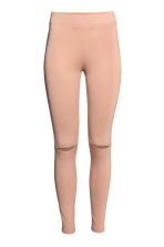 Cut-out leggings - Beige - Ladies | H&M 2