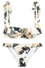 Patterned bikini - White/Floral - Ladies | H&M GB 2