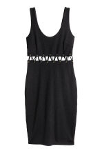 Fitted dress - Black - Ladies | H&M CA 2