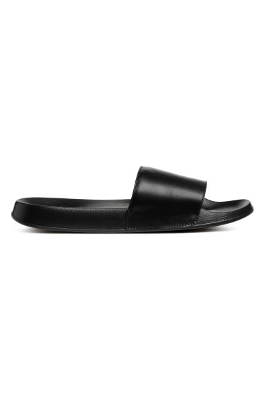 Slides - Black - Ladies | H&M CN 1