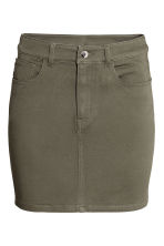 Short twill skirt - Khaki green - Ladies | H&M 2