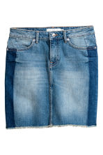 Denim skirt - Denim blue - Ladies | H&M CN 2