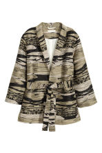 Textured jacket - Khaki/Patterned -  | H&M 2