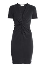 Dress with tie detail - Black - Ladies | H&M 2