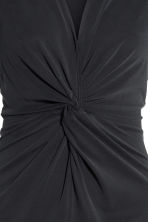Dress with tie detail - Black - Ladies | H&M 3