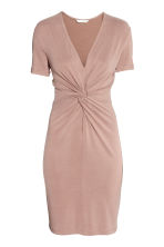 Dress with tie detail - Powder - Ladies | H&M GB 2
