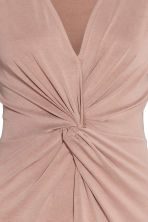 Dress with tie detail - Powder - Ladies | H&M GB 3