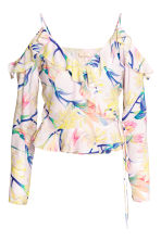 Cold shoulder blouse - Light pink/Floral - Ladies | H&M CA 2
