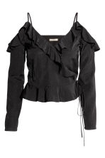 Cold shoulder blouse - Black - Ladies | H&M CN 2