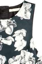 Patterned satin dress - Black/Floral - Ladies | H&M 3