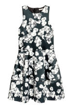 Patterned satin dress - Black/Floral - Ladies | H&M 2