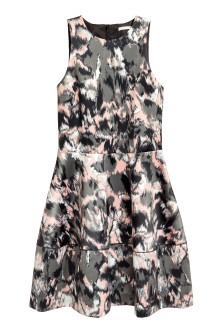 Patterned satin dress