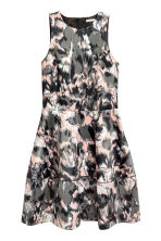 Patterned satin dress - Powder/Patterned - Ladies | H&M CN 2