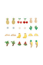 12 pairs earrings - Gold/Multicoloured - Ladies | H&M 1