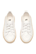 Embroidered trainers - White - Kids | H&M CN 2