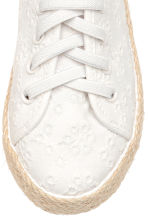Embroidered trainers - White - Kids | H&M 4