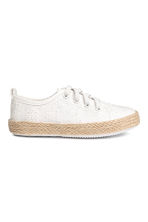 Embroidered trainers - White - Kids | H&M 1