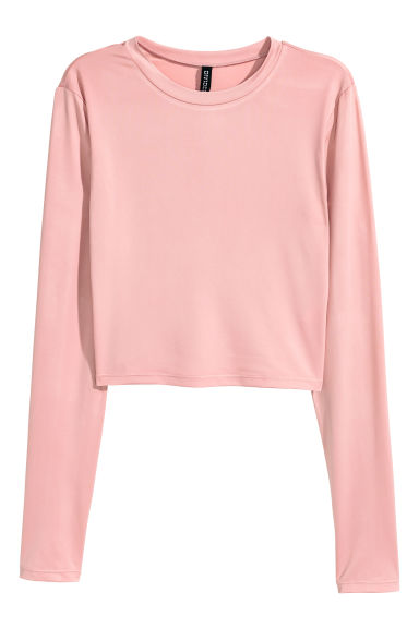 Cropped top - Dusky pink - Ladies | H&M 1