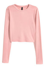 Cropped top - Dusky pink - Ladies | H&M CN 1
