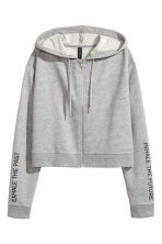 Short hooded jacket - Grey marl - Ladies | H&M 2