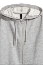 Short hooded jacket - Grey marl - Ladies | H&M 3
