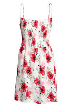 Smocked dress - White/Floral - Ladies | H&M CN 2