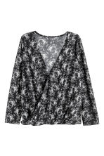 Top in jersey - Nero/fiori - DONNA | H&M IT 2