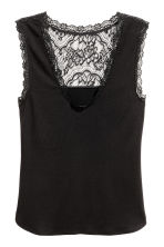 Top with lace details - Black - Ladies | H&M 2