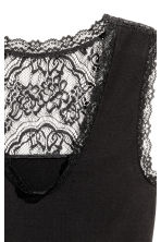 Top with lace details - Black - Ladies | H&M 3