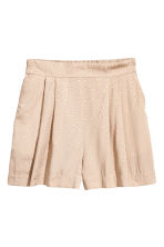 Jacquard-weave shorts - Light beige -  | H&M 2