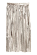 Pleated skirt - Silver -  | H&M GB 2