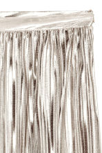 Pleated skirt - Silver -  | H&M GB 3