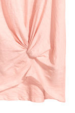 Jersey tie top - Powder pink - Ladies | H&M CN 3
