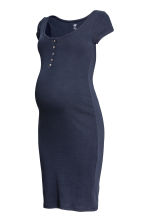 MAMA Jersey dress - Dark blue -  | H&M CN 2