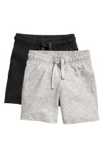 2-pack jersey shorts - Grey marl - Kids | H&M 2