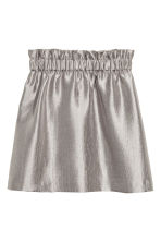 Crinkled skirt - Silver - Ladies | H&M CN 2