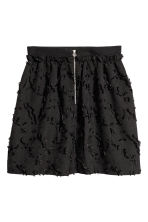 Jacquard-patterned skirt - Black - Ladies | H&M 3