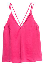V-neck strappy top - Cerise - Ladies | H&M 2