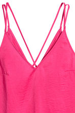 V-neck strappy top - Cerise - Ladies | H&M 3