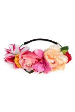 Hair decoration with flowers - Pink - Ladies | H&M CN 1