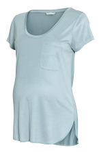 MAMA Jersey top - Light blue-grey -  | H&M 2