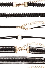 8-pack chokers - Black - Ladies | H&M CN 2