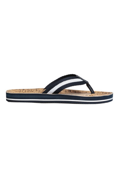 Flip-flops - Dark blue - Men | H&M 1