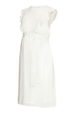 MAMA Frilled-sleeve dress - Natural white - Ladies | H&M CN 2