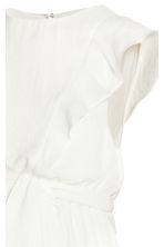 MAMA Frilled-sleeve dress - Natural white - Ladies | H&M 3