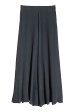 Long bell-shaped skirt - Dark blue - Ladies | H&M 2