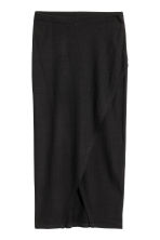 Ribbed jersey skirt - Black - Ladies | H&M CN 2